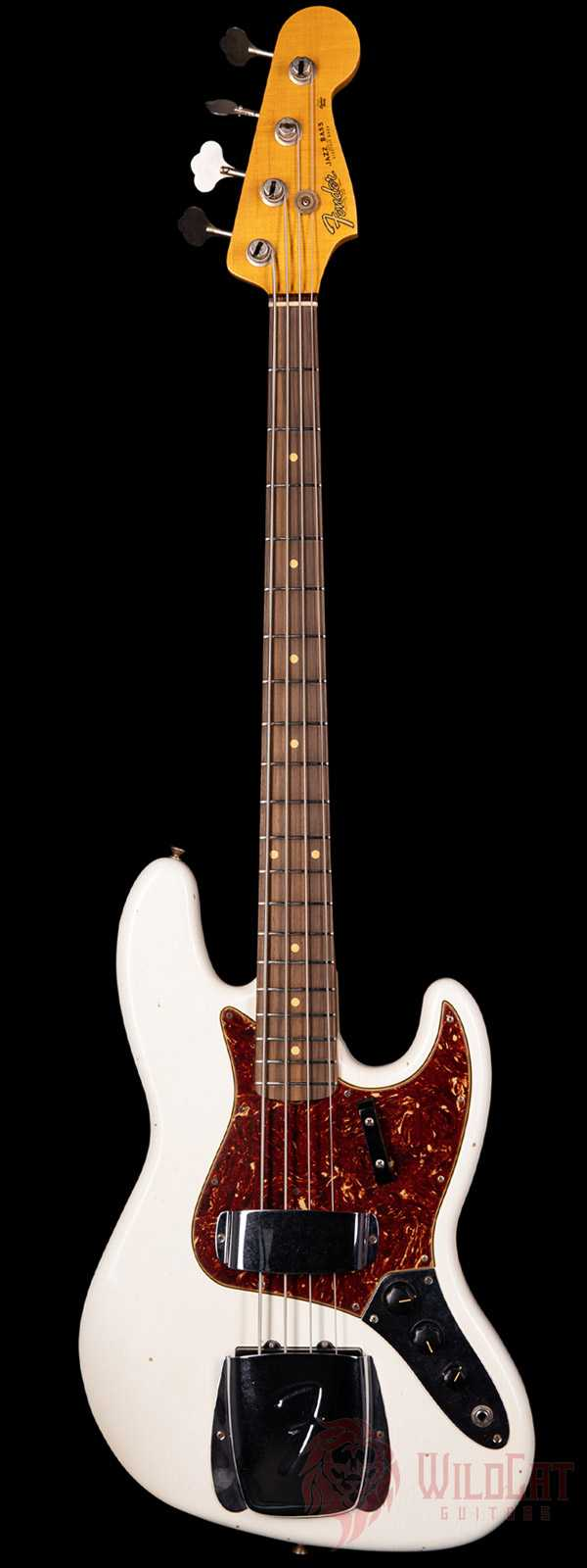 Fender Custom Shop 1962 Jazz Bass Journeyman Aged Olympic White