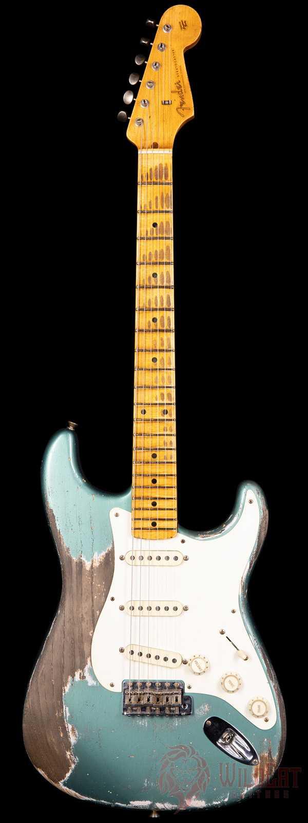 Fender Custom Shop Masterbuilt Greg Fessler 1956 Stratocaster Extreme Heavy Relic Sherwood Metallic