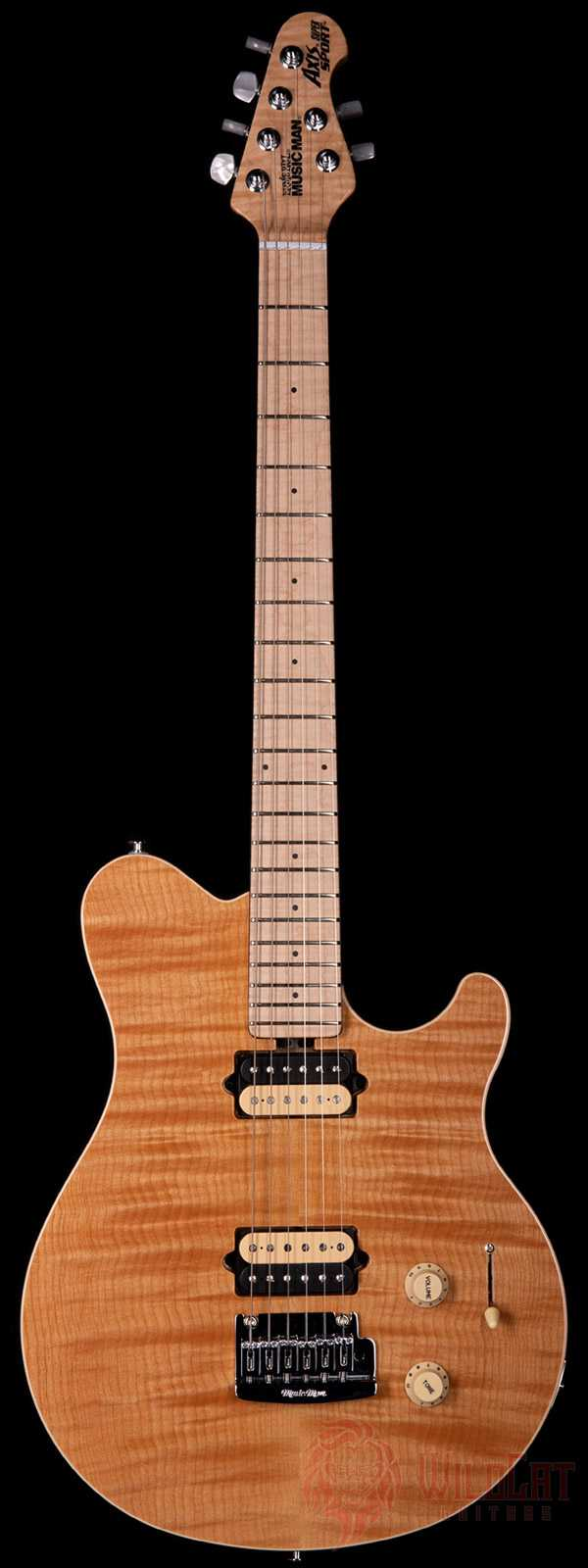Ernie Ball Music Man Axis Super Sport Tremolo Trans Gold Flame Top