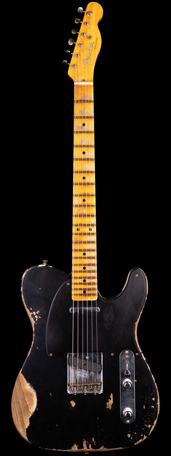 Fender Custom Shop 1952 Telecaster Heavy Relic Black Streamline U Neck