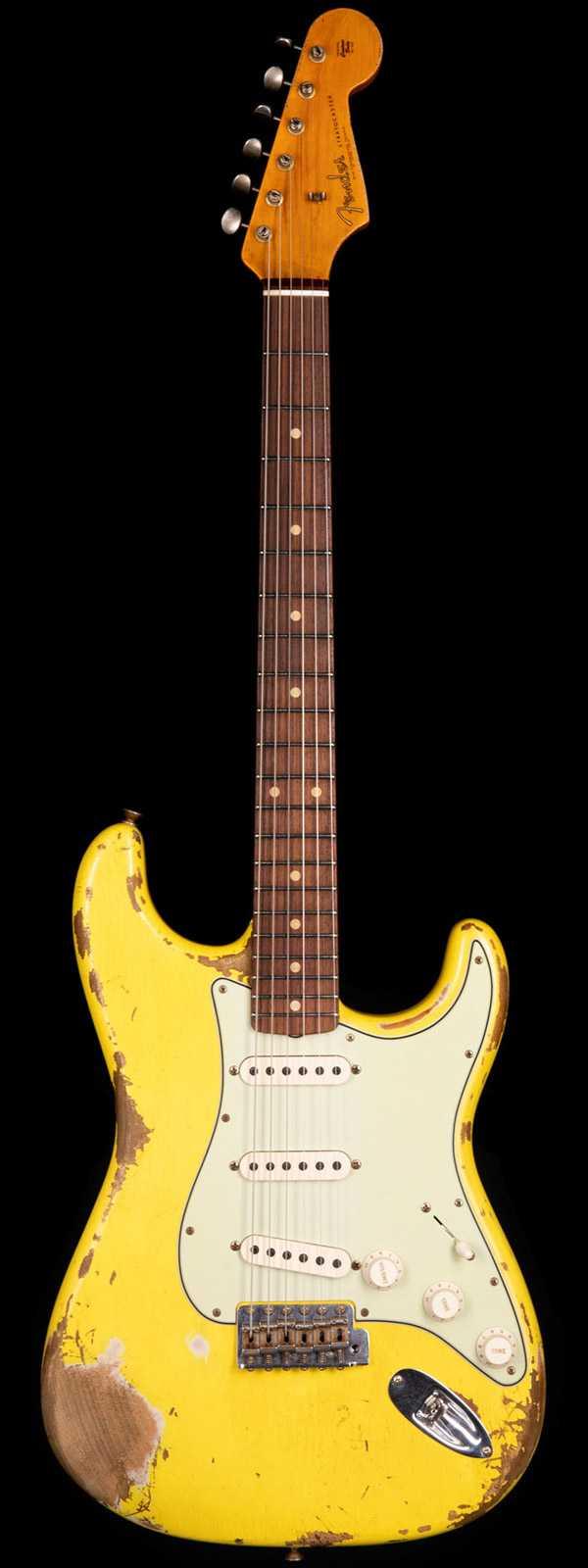 Fender Custom Shop 1961 Stratocaster Heavy Relic Graffiti Yellow
