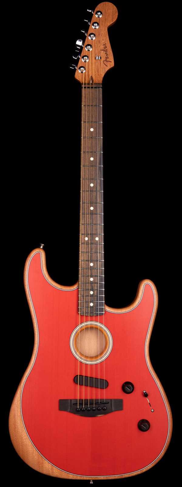 Fender Acoustasonic Stratocaster Acoustic-Electric Dakota Red