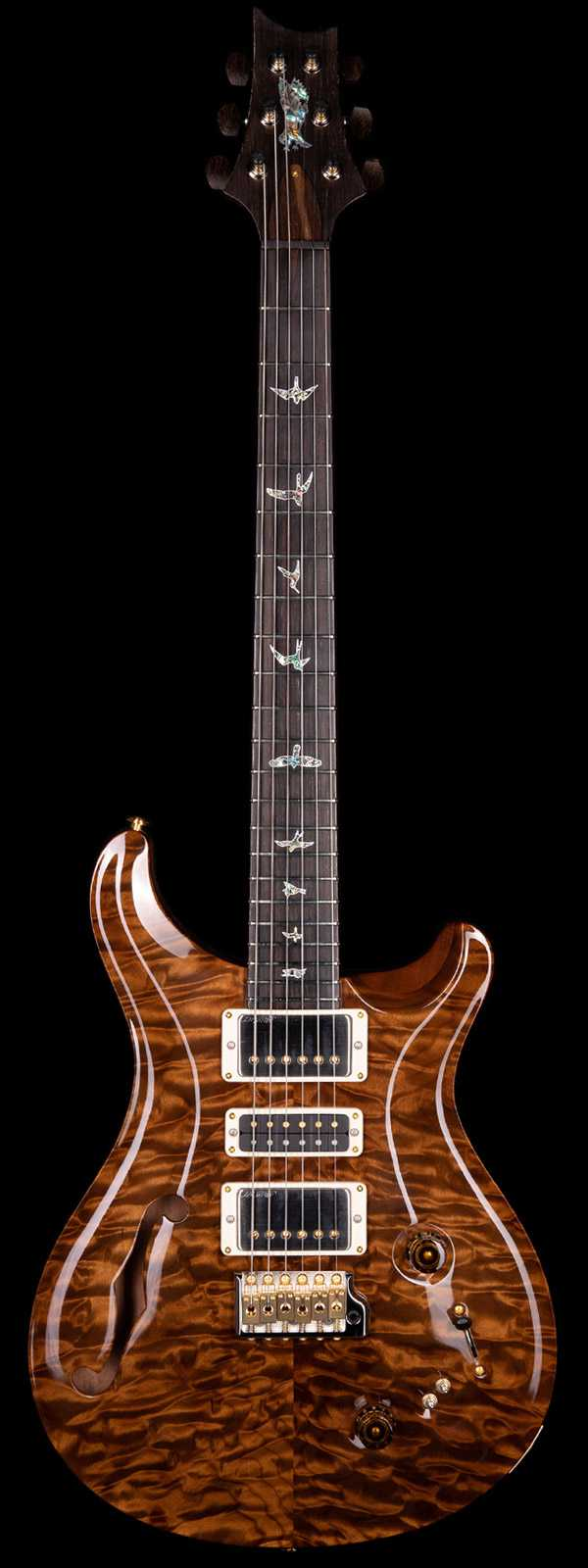 PRS Private Stock 8520 Special Semi-Hollow w/ F-Hole Roasted Quilt Top Brazilian Fretboard Natural Finish