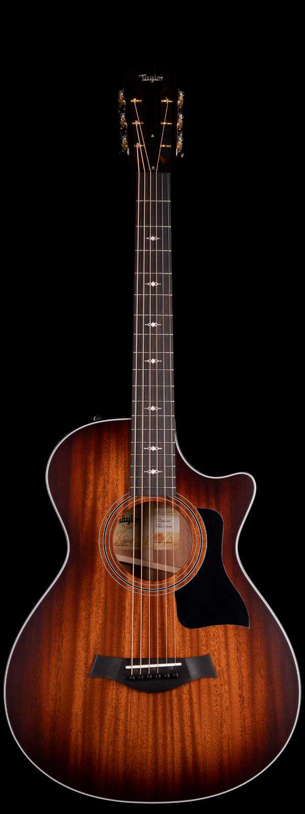 Taylor 322ce 12-Fret Grand Concert Acoustic Electric Medium Brown Top