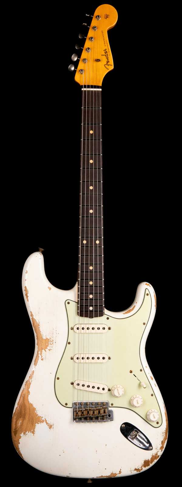 Fender Custom Shop 1961 Stratocaster Heavy Relic Aged Olympic White