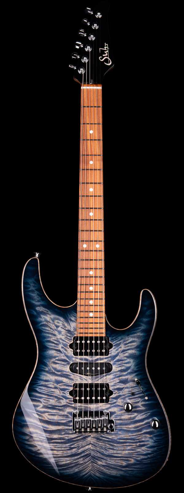 Suhr Modern Quilt Maple Top faded Trans Whale Blue Burst